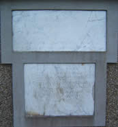 Two memorials mounted on the wall of Killead Presbyterian church to the rear