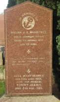 Headstone of William Macartney at Killead Presbyterian Church