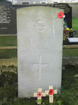 The war grave of K Posgate