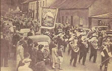 Procession through Glenavy headed by Pakenham Silver Band