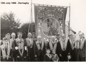 Crew LOL 124 on 12th July 1966 at Derriaghy Photograph appears with permission of Ulster Star